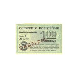 Rotterdam 1 gulden - Ongeldig, dichte letter