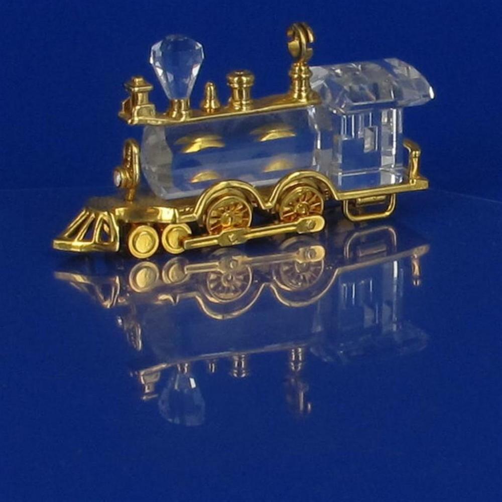 Locomotief met gouden afwerking