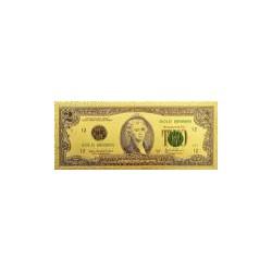 USA biljet 2 Dollar in Goud met kleuropdruk 'Thomas Jefferson'
