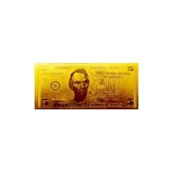 USA biljet 5 Dollar in goud 'Abraham Lincoln' - versie 2