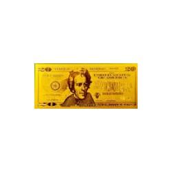 USA biljet 20 Dollar in goud 'Andrew Jackson' - versie 2