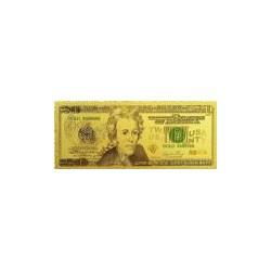 USA biljet 20 Dollar in goud met kleuropdruk 'Andrew Jackson'
