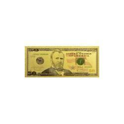 USA biljet 50 Dollar in goud met kleuropdruk 'Ulysses S. Grant'