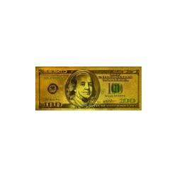 USA biljet 100 Dollar in goud met kleuropdruk 'Benjamin Franklin' - versie 1