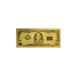 USA biljet 1000 Dollar in goud met kleuropdruk