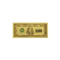 USA biljet 10.000 Dollar in goud met kleur opdruk 'Ten Thousand'