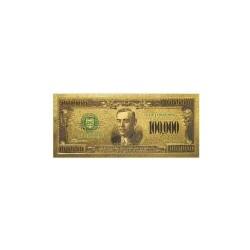 USA biljet 100.000 Dollar in goud met kleur opdruk 'Wilson'