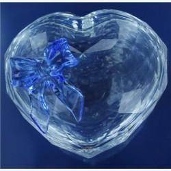 Juwelendoosje hart met blauwe strik