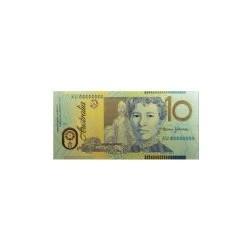 Australia biljet 10 Dollar in goud kleuropdruk 'Paterson'