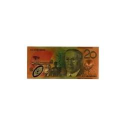 Australia biljet 20 Dollar in goud met kleuropdruk 'Mary Reiby'