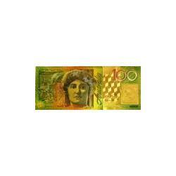 Australia biljet 100 Dollar in goud met kleuropdruk 'Dame Nellie Melba'