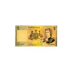 Australia biljet 1 Dollar in goud 'Queen Elizabeth II'
