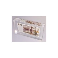 Nederland 100 Gulden 1970 'Michiel de Ruyter' in plexiglas
