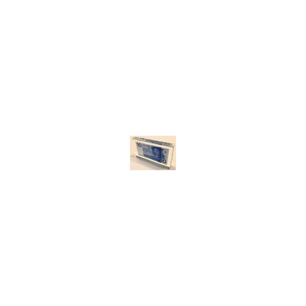 Nederland 10 Gulden 1968 'Frans Hals' in plexiglas