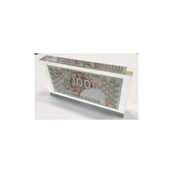 Nederland 100 Gulden 1992 'Steenuil' in plexiglas