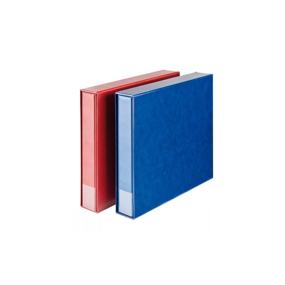 Lindner ansichtkaarten album XL met cassette, wijnrood (zonder inhoud)