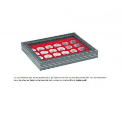 Lindner NERA-M muntencassette (Ø32,5 mm) met zichtvenster!