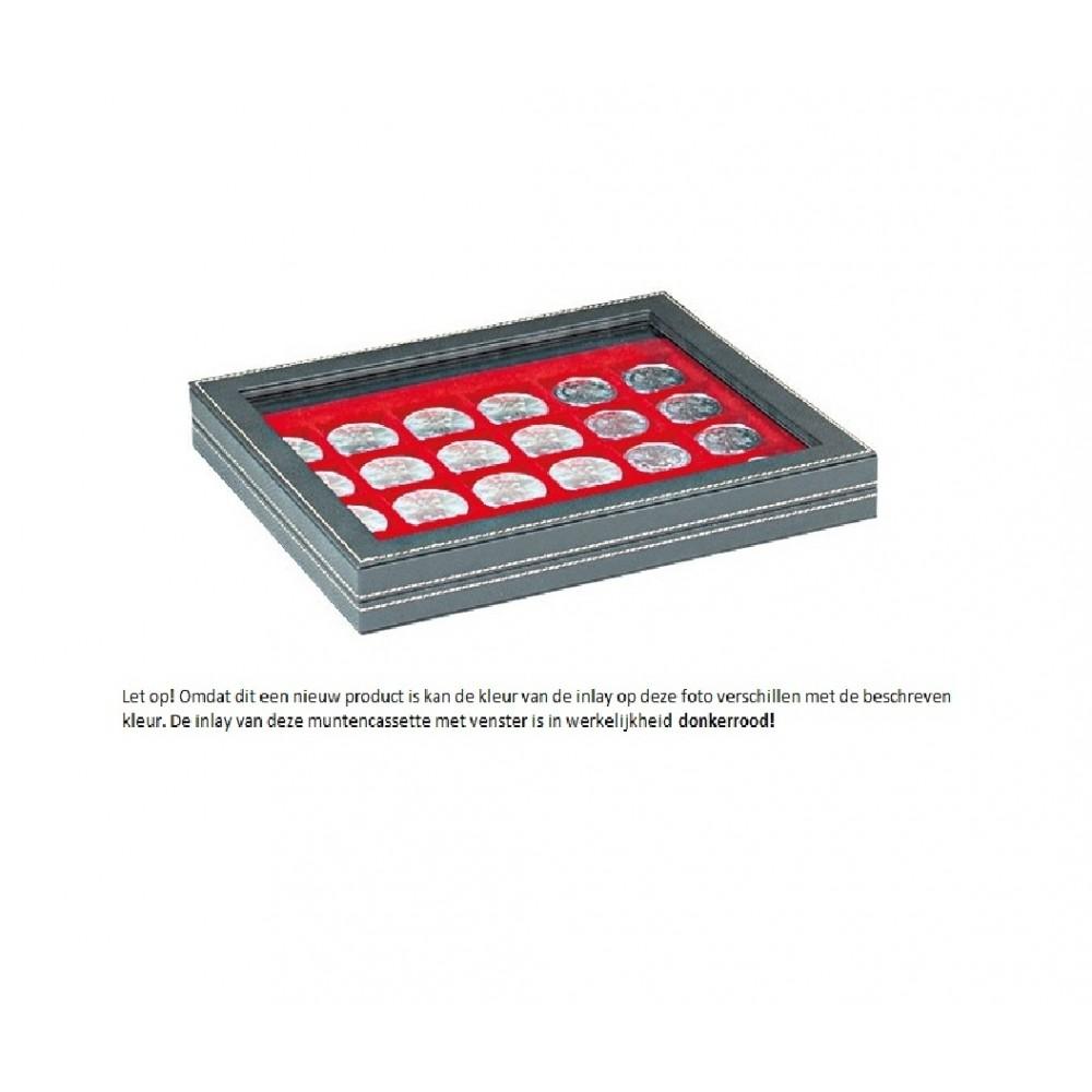 Lindner NERA-M muntencassette (Ø series Euromunten) met zichtvenster!