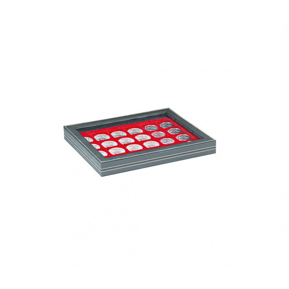 Lindner NERA-M muntencassette (Ø37 mm) met zichtvenster!