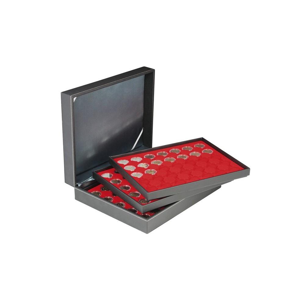 Lindner NERA-XL muntencassette (Ø series Euromunten)