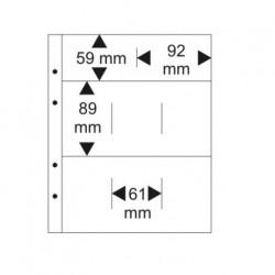 Lindner Multi Collect bladen 8-vaks voor coincards, per 10 (zwart)