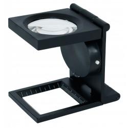 Lindner dradenteller metaal met LED-verlichting, 6x vergroting