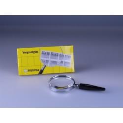 Steelloep vergroting 3x, lensdoorsnede Ø 75 mm.
