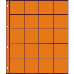 GM tussenbladen ORANJE RUIT (10 stuks) (munthouders)