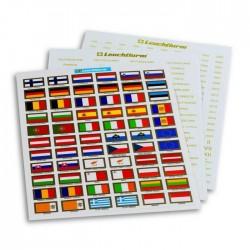 Leuchtturm euromunten vlaggen stickerset