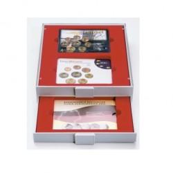 Lindner D muntenbox 6 vaks (85 x 85 mm)
