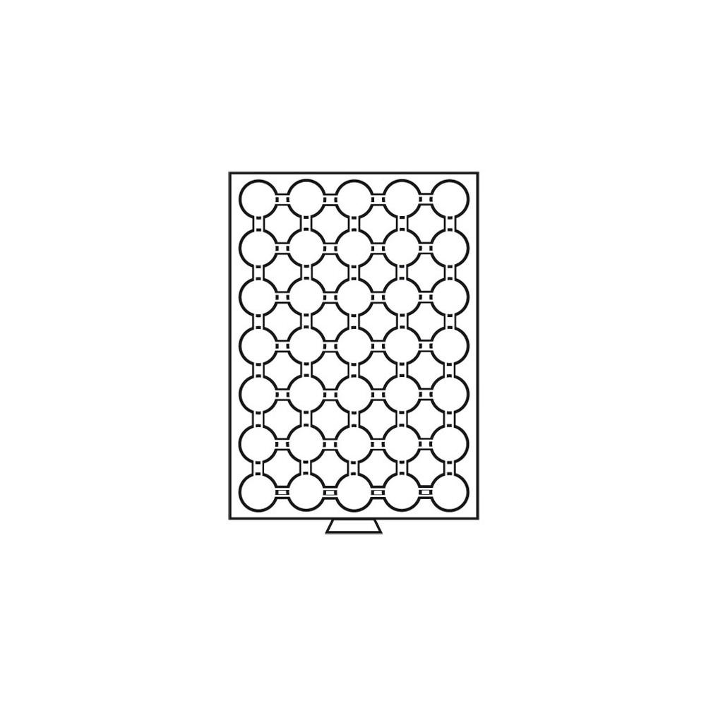 Leuchtturm MB muntenbox voor 2 euromunten in capsule (Ø 26 mm)