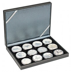 Lindner NERA-XM muntencassette met 12 vakken (50 mm)