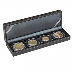 Lindner NERA-S muntencassette met 4 vakken (tot 52 mm)