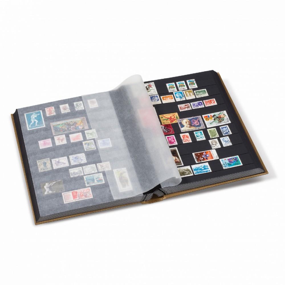 Leuchtturm COMFORT insteekalbum A4, 32/64 zwarte bladzijden